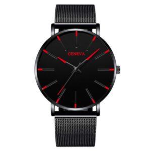 2020 Minimalist Men's Fashion Ultra Thin Watches Simple Men Business Stainless Steel Mesh Belt Quartz Watch Relogio Masculino