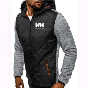 Fashion Hoody Spliced Jacket Printed HH Men Hoodies Sweatshirts Casual Coat Hooded Cardigan Plus Fleece M-3XL Brand clothing