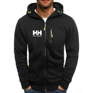 Fashion Hoody Autumn Thin Jacket HH Printed Men Hoodies Jackets Casual Hooded Coat Zip Cardigan Plus Fleece M-3XL