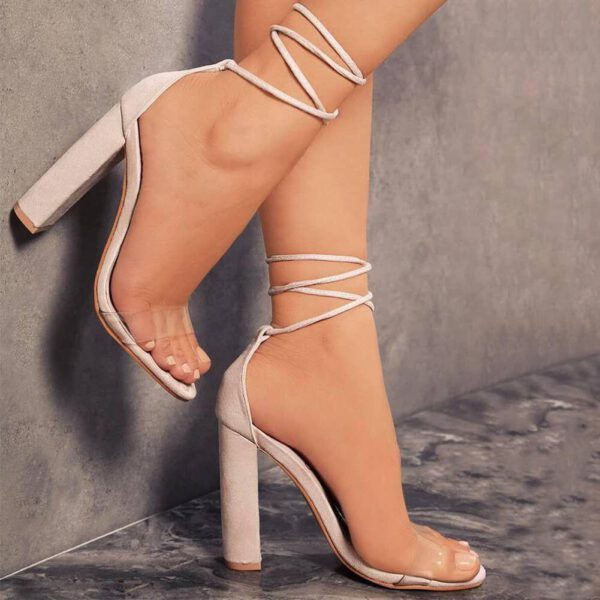Dlek Ankle Strap Transparent High Heels Shoes Peep Toe Heels Pvc Pumps Summer Novelty Casual Sandals