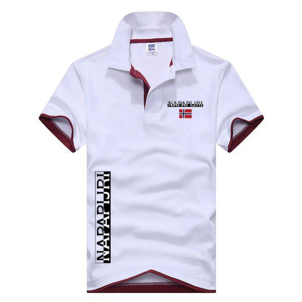 Summer New Brand NAPAPIJRI Men Polo Shirts Mens Cotton Short Sleeve Polos Shirt Casual Solid Color Shirt Polo XS-3XL