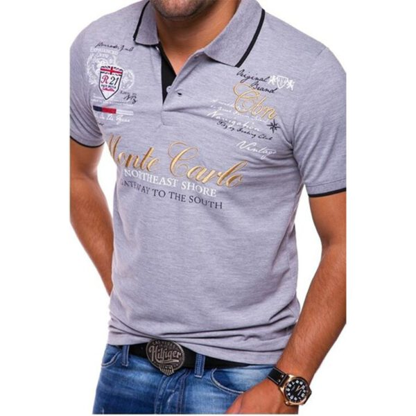 ZOGAA Men Polo Shirt Short Sleeve Cotton Casual Printing Solid Anti-shrink Shirts Top Quality Mens Clothing Summer Polos Tees