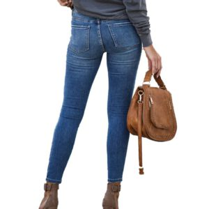 Jeans for Women mom Jeans Mid Waist Jeans Woman High Elastic plus size Stretch Jeans female washed denim skinny pencil pants