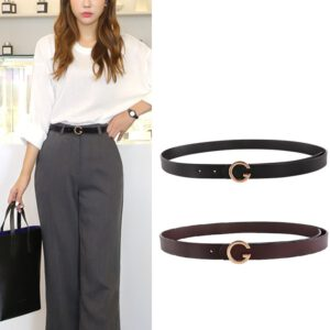 2019 Women Cowskin Belt Designer Women's Jeans Belt Women Pants Dress Strap Ladies Genuine Leather Belts with Alloy Retro Buckle