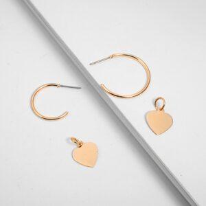 Tocona 3pcs/set Bohemia Love Heart Pendant Drop Earrings Punk Gold Alloy Dangle Earring Piercing Brincos for Women Jewelry 6816