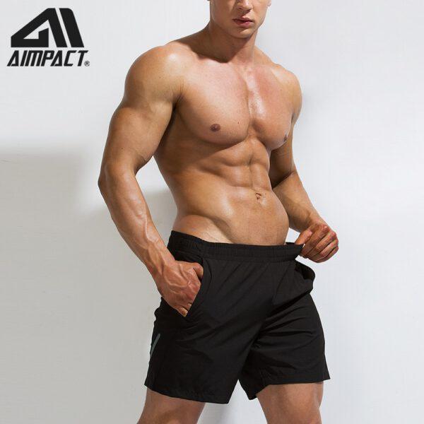 AIMPACT mens summer Fitness Shorts men's jogger cansual Knee length Shorts bodybuilding quick Dry Workout Beach sportwears