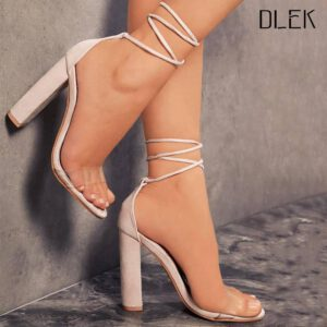 Dlek Ankle Strap Transparent High Heels Shoes Peep Toe Heels Pvc Pumps Summer Novelty Casual Sandals