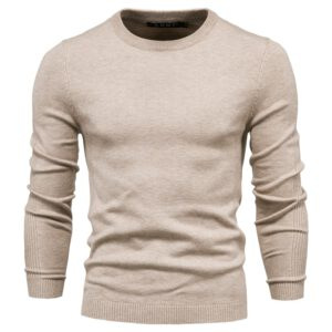 2020 New Winter Thickness Pullover Men O-neck Solid Color Long Sleeve Warm Slim Sweaters Men Men's Sweater Pull Male Clothing