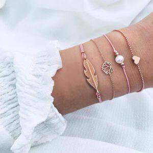 Boho Bracelet Bangle Sets for Women Map Beaded Gem Shell Turtle Leaf Handmade Multilayer Bracelet 2020 Jewelry Gift Bijoux