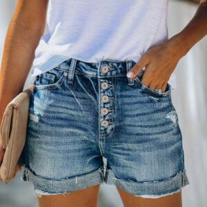 High Waist Crimping Women Short Jeans Summer Fashion sexy Ripped Denim Shorts New Casual Push Up Vintage Denim Shorts Streetwear