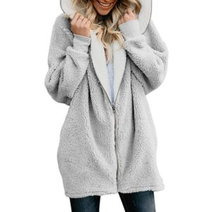 2020 Autumn Winter Faux Fur Coat Women Warm Teddy Coat Ladies Fur Teddy Jacket Female Long Coat Plus Size Outwear Plush Overcoat