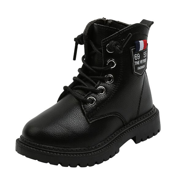 Children's Martin boots 2020 autumn winter new leather side zipper ankle boots fashion girls boots non-slip boys boots kids boot