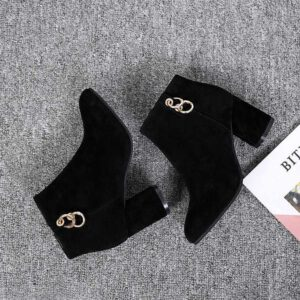 2019 Chelsea Boots Women Elastic Ankle Pig Suede Brogue Boot Genuine Leather Quality Brand Lady Shoes Handmade
