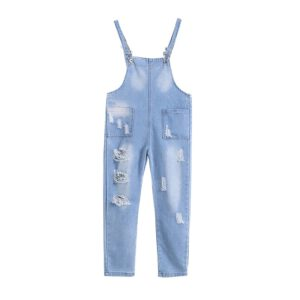 Kids Overalls Autumn Boys Girls Denim Suspenders Jeans for Teen Adjustable Strap Rompers Children Clothes Jumpsuit Clothing New