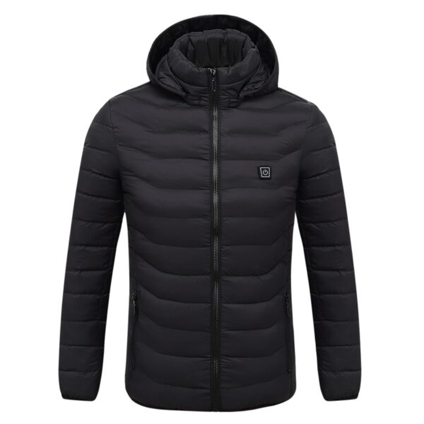 Winter Jacket Men Clothes Winter Coat Winter Men's Usb Abdominal Back Heating Warm Down Cotton Jacket Vestes Overcoat Tops
