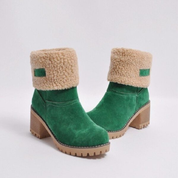 Women Winter Fur Warm Snow Boots Ladies Warm Wool Booties Ankle Boot Comfortable Shoes Casual Women Mid Boots For Female