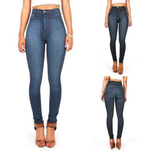 2020 Women Sexy High-waist Wide-legged Casual Pants Teenagers Classic Denim Skinny Oversize Comfortable Woman Jeans F Fast Ship