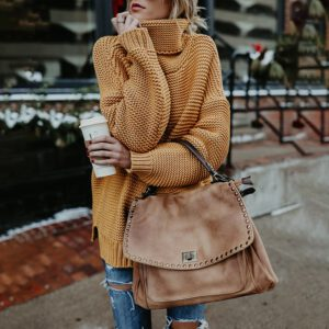 Women Knitted Sweater New Warm Solid Loose Autumn Winter 2020 Thick Long Sleeve High Neck Pullover Turtleneck Streetwear