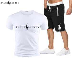 RALPH LAUREN Tracksuit Men Sweat Suit Fashion Casual Men's Sets Mens Clothes Quick Drying T Shirt Short Pants Brand Men's