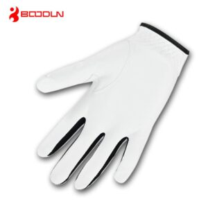 1pcs Men Golf Gloves Leather Soft Glove Adjustable Breathable for Left-Handed Right-Handed EDF88
