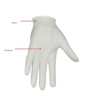 1pcs BOODUN Genuine Leather Women's Golf Gloves for Left Right Hand Breathable Soft Sheepskin White Pink Color Golf Accessories