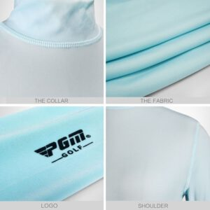 Golf Shirt Summer Wear T-Shirts Anti UV Clothes Women Clothing Ice Silk Sun Protection Shirt Ultra-thin Breathable Casual Shirts