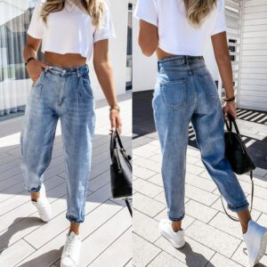 2021 New Autumn Leisure Temperament Harem Pants Women's Fashion Jeans