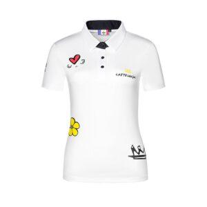 Women's Golf Shirt Castelbaiac 2021 NEW Sports Apparel Short Sleeve T-shirt Quick Dry Breathable Polo-shirt for Ladies 골프웨어