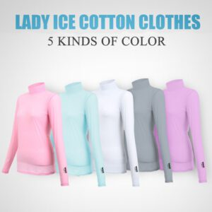 Golf Shirt Summer Wear T-Shirts Anti UV Clothes Women Clothing Ice Silk Sun Protection Shirt Ultra-thin Breathable Casual Shirts