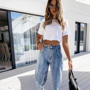 2021 New Autumn Leisure Temperament Harem Pants Women's Fashion Jeans