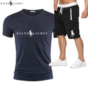 RALPH LAUREN Tracksuit Men Sweat Suit Fashion Casual Men's Sets Mens Clothes Quick Drying T Shirt Short Pants Brand Men's