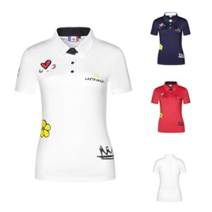 Women's Golf Shirt Castelbaiac 2021 NEW Sports Apparel Short Sleeve T-shirt Quick Dry Breathable Polo-shirt for Ladies 골프웨어