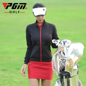 Ladies Golf Jacket Winter Windbreaker Women's Long Sleeve Zipper Coat Waterproof Cardigan Sportswear Golf Apparel 3 Colors