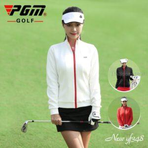 Ladies Golf Jacket Winter Windbreaker Women's Long Sleeve Zipper Coat Waterproof Cardigan Sportswear Golf Apparel 3 Colors
