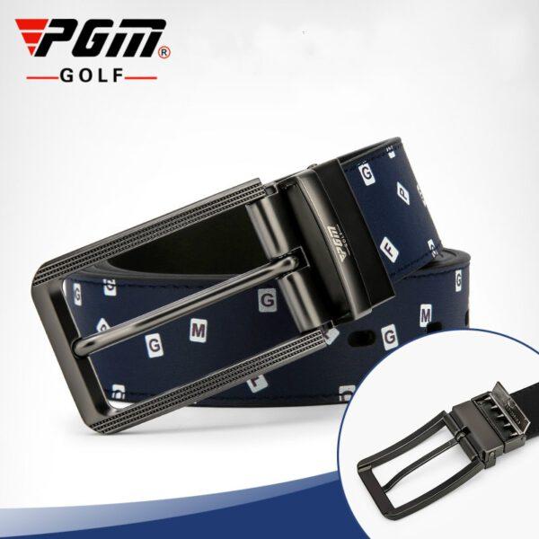 PGM Golf Leather Belt Men Pin Buckle Leather Belt Detachable Belt Length Snap Double-Sided Waistband PD012