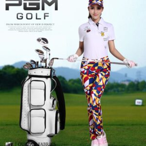 2018 New summer golf pants Lady breathable Sweat pants Print sports tight trousers for women size XS-XL