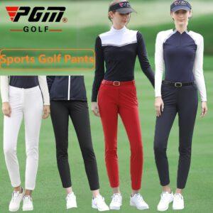 Pgm Autumn Winter Ladies Golf Pants Women High Elasticity Sport Trousers Slim Fit Golf/Tennis Pants Warm Windproof Golf Clothing
